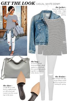 STYLE'N | Naina Singla - fashion stylist and style expert - Blog - GET THE LOOK: Casual White Denim ( I'd wear w/o the rips in the knees)