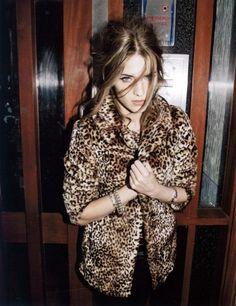 Leopard print faux fur coat <3