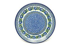 Polish Pottery Plate  Dinner 10 12  Blue Pansy -- Details on product can be viewed by clicking the image