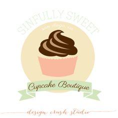 Don't like the big cupcake Big Cupcake, Cupcake Logo, Cupcake Shops, Cake Branding, Branding Design, Logo Design, Logo Branding, Cupcake Factory, Cup Logo
