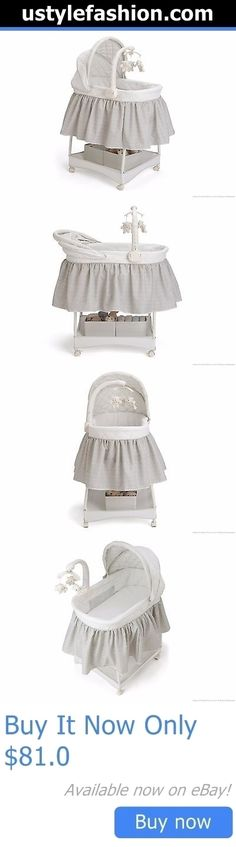 Bassinets And Cradles: Delta Deluxe Gliding Bassinet Silver Lining - Brand New - Best Price! BUY IT NOW ONLY: $81.0 #ustylefashionBassinetsAndCradles OR #ustylefashion