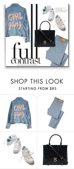 """""""Full Contrast"""" by alinnas ❤ liked on Polyvore featuring High Heels Suicide, D&G, adidas and 10 Crosby Derek Lam"""