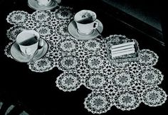 VIntage Coffee Table Cover | Crochet Patterns This would match my antique bedroom furniture beautifully.
