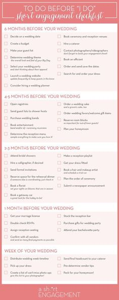 Printable Wedding Planning Checklist for DIY Brides DIY Wedding