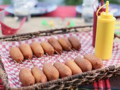 Get Mini Corn Dogs Recipe from Food Network