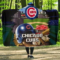 Special Edition Chicago Cubs Home Field Advantage Hooded Blanket – Vota Color Oakland Raiders Logo, Oakland Athletics, Cubs Pictures, Cute Presents, Vegas Golden Knights, Wrigley Field, Buster Posey, Tampa Bay Rays, Hooded Blanket