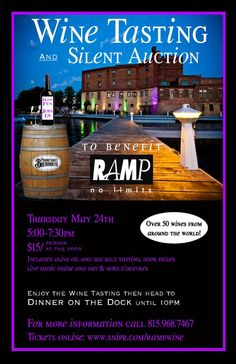 2012 RAMP Wine Tasting & Silent Auction at Prairie Street Brewhouse in Rockford, IL to benefit RAMP | StayClassy.org Wine Tasting Events, Wine Tasting Party, Wine Parties, Fundraising Events, Fundraising Ideas, Fundraiser Event, Wine Pull, School Auction, School Staff