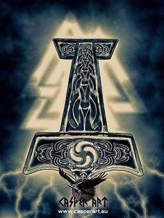 Mjolnir, el símbolo de la restauración odinista