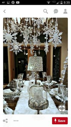 Silver Christmas Decorations are certainly one inseparable the main Christmas holidays, without which Christmas would lose all its color, spirit, warm. Christmas Table Settings, Christmas Tablescapes, Christmas Table Decorations, Decoration Table, Christmas Themes, Holiday Tablescape, Winter Decorations, Outdoor Decorations, Decorating For Christmas