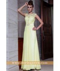 A-line off shoulder beaded bridesmaid dress 30825