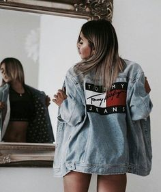 fashion, tommy jeans, and denim image Cute Casual Outfits, Fall Outfits, Summer Outfits, Look Fashion, Fashion Outfits, Womens Fashion, Fashion Trends, 90s Fashion, Jeans Fashion
