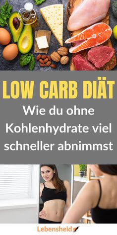 The Low Carb Diet - Cut Out The Carbohydrates - Life Hero- Die Low Carb Diät – Lass die Kohlenhydrate weg – Lebensheld How you suddenly lose weight much faster with the low carb diet. Law Carb, Sugar Detox Plan, No Sugar Diet, Low Calorie Diet, Calories, Diet And Nutrition, Health Diet, Eating Habits, Healthy Weight