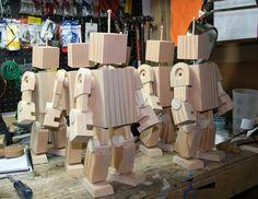 Wooden toys robot