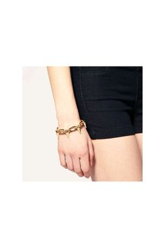 MIA Gold-Plated Studded Chain Bracelet
