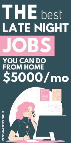 If you are looking to work late night from home,there are dozens of late-night work from home jobs you can choose from which are both flexible and lucrative Work From Home Careers, Work From Home Companies, Legit Work From Home, Legitimate Work From Home, Work From Home Opportunities, Work From Home Tips, Make Side Money, Make Money Fast, Make Money From Home