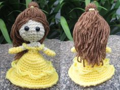 Princess Belle – By Philae Artes Please, do not sell this pattern. It was made by me and I want it free…always! Yarn colors that you will use: -yellow -brown -light brown (skin) HEAD Light brown ya…