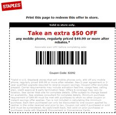 staples 50 off phone printable coupon