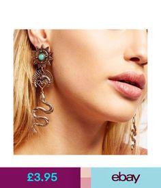 Earrings Bohemian Long Snake Earrings Pair Vintage Drop Sun Earring Boho Hippy Party Gift #ebay #Fashion