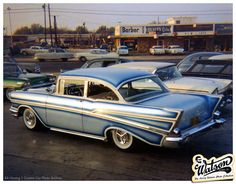 unidentified 1957 Chevy at the Larry Watson Rosecrans Blvd shop