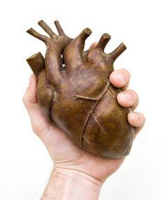 bronze heart sculpture