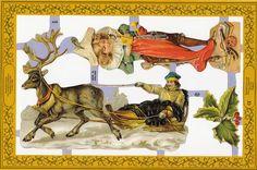 Victorian Santa Paper Scraps