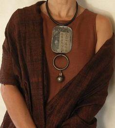 Jewelry Making WABI SABI - simple, organic living from a Scandinavian Perspective. Bijoux Design, Schmuck Design, Jewelry Design, Ethnic Jewelry, Jewelry Art, Jewelry Accessories, Artisan Jewelry, Handmade Jewelry, Scandinavia Design