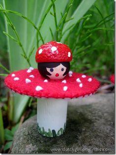 paddenstoel meisje + werkbeschrijving