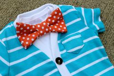 SALE+Cardigan+and+Bow+Tie+Onesie+Set++Light+Blue+with+by+HaddonCo,+$30.00