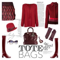 Tote bag by hani-bgd on Polyvore featuring polyvore, fashion, style, Oasis, Jean-Louis Scherrer, Marco de Vincenzo, Christian Dior, Saks Fifth Avenue Collection, Overland Sheepskin Co., Italia Independent, Burberry, By Terry, clothing and totebags