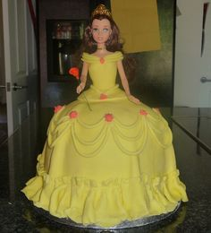 Belle cake.. My girls will get this for EVERY birthday! Lol jk :)