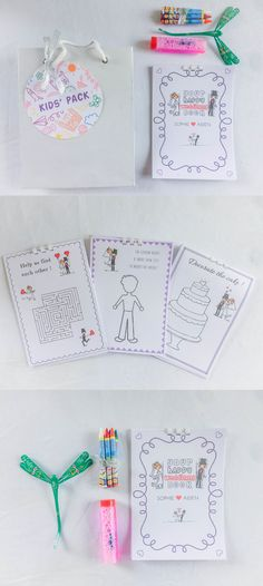 A Sample of our kids pack - something to keep the little ones entertained while the adults have fun. Rustic Wedding, Our Wedding, Destination Wedding, Welcome Bags, Hoi An, Wedding Favours, Happy Kids, Our Kids, Wedding Designs