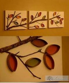 Creative decorative idea made out of toilet paper rolls Fall Crafts, Diy And Crafts, Crafts For Kids, Arts And Crafts, Toilet Paper Roll Art, Toilet Paper Roll Crafts, Tissue Paper Roll, Diy Wall Art, Diy Art