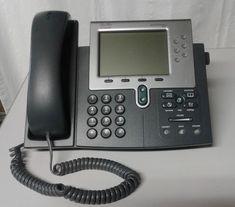 Cisco CP-7961G Unified IP Phone VoIP Digital SCCP Business 7961 w/ Handset #Cisco