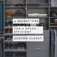 Need more space in your closet? This minimalist men's wall hung closet is just one example in this article. | Innovate Home Org Columbus Ohio