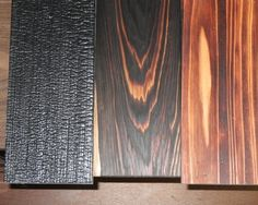 Examples of shou-sugi-ban, the Japanese art of wood charring. What do you think #Savannah?