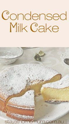 Milk Cake made me fall in love with condensed milk even more. It is unbelievably moist and dense. Sweet enough to satisfy your cravings and the texture is to die for - that is, if you baked it just right! Food Cakes, Cupcake Cakes, Baking Cakes, Bread Baking, Sweets Cake, Just Desserts, Delicious Desserts, Dessert Recipes, Yummy Food