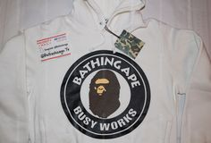 Bape Busy Works Pull Over Hoodie