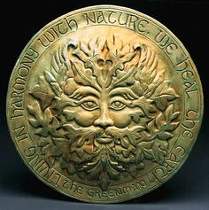 The Greenman Stone The Greenman is the Celtic God of the Woodlands; He takes care of the green and growing things and protects the forest creatures. The Greenman archetype symbolizes our oneness with the earth. His image combines a man's face and nature.