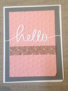 Hello note card $4.50