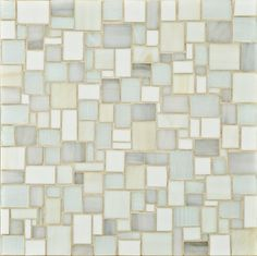 white glass mosaic tile