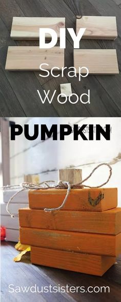 Scrap wood pumpkin