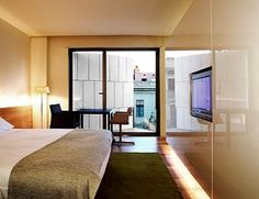 Bedroom at the Omm Hotel - Barcelona - Spain