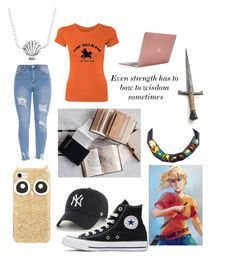 A fashion look from May 2017 featuring cotton t shirts, high-waisted jeans and converse high tops. Browse and shop related looks. Kate Spade Disney, Jeans And Converse, Annabeth Chase, Percy Jackson, High Waist Jeans, Polyvore Fashion, High Tops, Fashion Looks, Bows