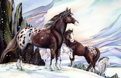 Bergsma Gallery Press :: Products :: Easel Back Tiles :: Horses :: Medicine Horse - Easel Back Tile Painted Horses, Horse Pictures, Pictures To Paint, Dream Catcher Art, Horse Artwork, Horse Paintings, Horse Wallpaper, Horse Portrait, Appaloosa Horses