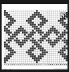 MOCHILA WAYUU 49 ESQUEMA Tapestry Crochet Patterns, Crochet Stitches Patterns, Weaving Patterns, Knitting Patterns, Cross Stitch Alphabet, Cross Stitch Embroidery, Cross Stitch Designs, Cross Stitch Patterns, Weaving Loom Diy