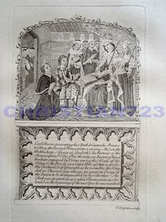 EARL RIVERS KING EDWARD 4th XRARE ANTIQUE  ENGRAVING ca 1790 BEAUTIFUL!!!!