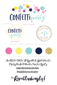 Welcome to my small shop ? This premade branding kit gorgeously to brand or r… - Event Event Planning Quotes, Event Planning Checklist, Event Planning Business, Party Planning, Personal Branding, Personal Logo, Personal Care, Branding Kit, Branding Design