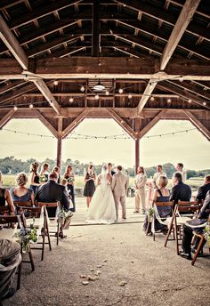 A photo of a wedding at Boone Hall Plantation