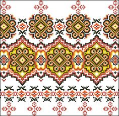 Cross Stitch Borders, Cross Stitch Charts, Cross Stitch Designs, Cross Stitch Patterns, Folk Embroidery, Cross Stitch Embroidery, Embroidery Patterns, Chart Design, Square Patterns