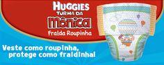 Sou Mãe de Dois Anjinhos: HUGGIES TURMA DA MONICA - VESTE FÁCIL